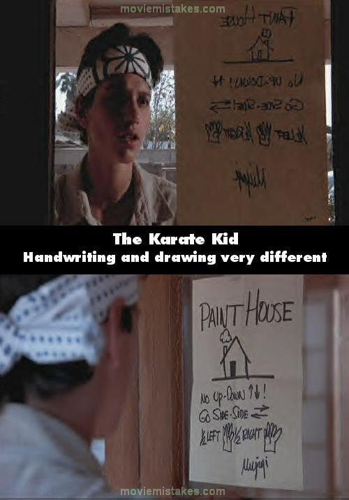 The Karate Kid 1984 movie mistakes, goofs and bloopers