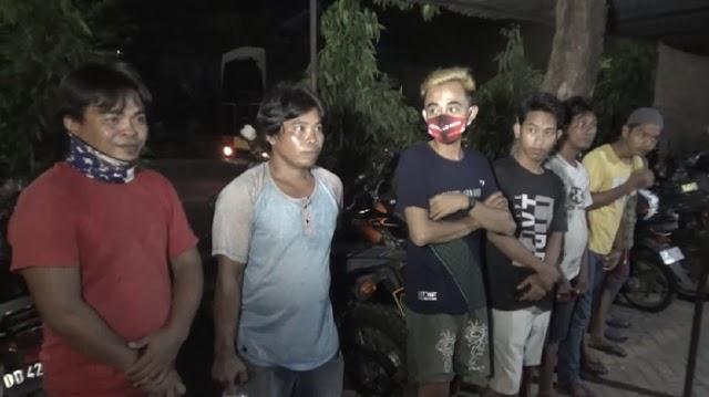 Pesta Miras-Hendak Balap Liar saat PSBB, 7 Warga Makassar Ditangkap