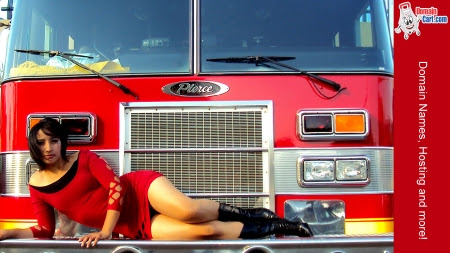 Gallery - Wallpapers | July + Red Dress and a Fire Truck - 1366 x 768 pixels_1