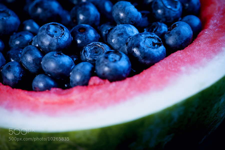 Watermelon Bowl of Blueberries 2 by Jay Scott (jayscottphotography) on 500px.com