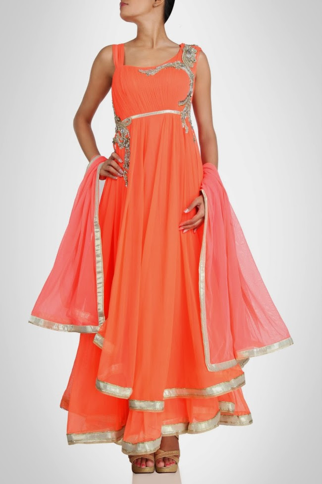 Amazing-Style-Designer-Wedding-Anarkali-Churidar-Frock-And-Sarees-Dress-by-Gaurav-Gupta-1