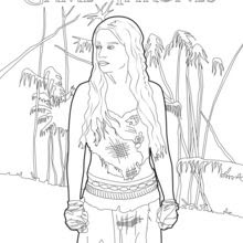Coloriages Game Of Thrones Daenerys Targaryen La Mère Des Dragons