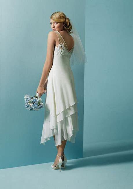 Tea length beach wedding dresses