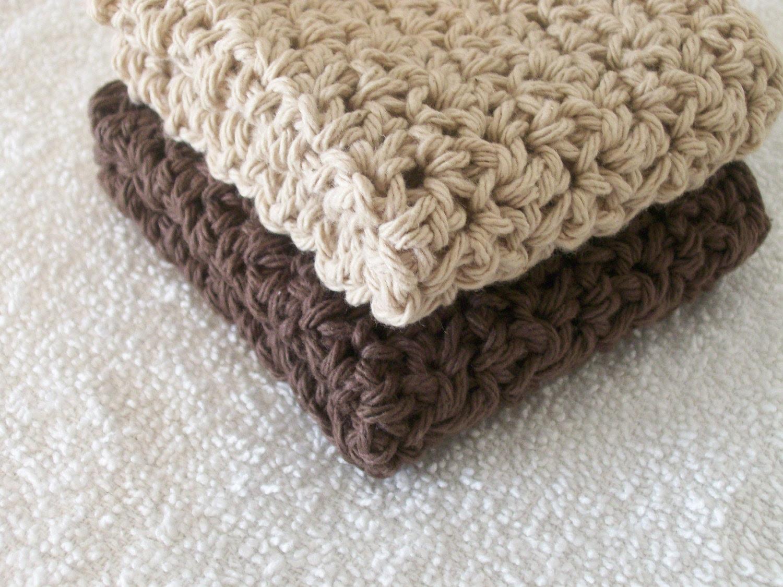 Shades of Brown Dishcloths