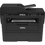 Brother - MFC-L2750DW Wireless Black-and-White All-In-One Laser Printer - Gray