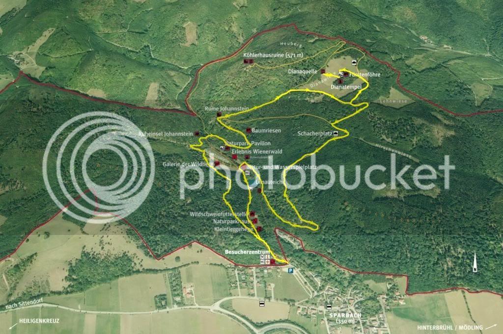 Karte Naturpark Sparbach