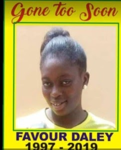 #JUSTICE FOR FAVOUR SEUN DALEY-OLADELE