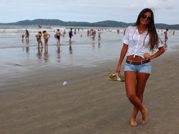 Jovem deve passar a temporada em Santa Catarina (Foto: Géssica Valentini/G1)