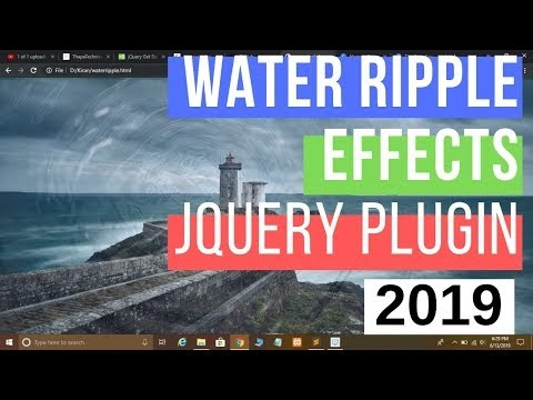 jQuery Water Ripples Effects using jQuery Plugin In Hindi