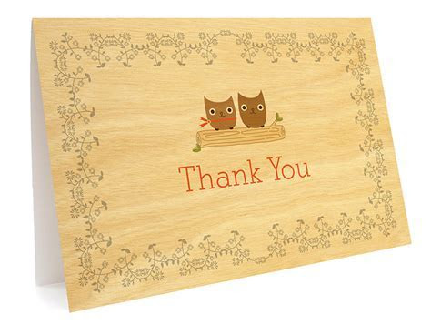 Owl Vows Folded Thank You Card ? Thank You Cards ? Wedding