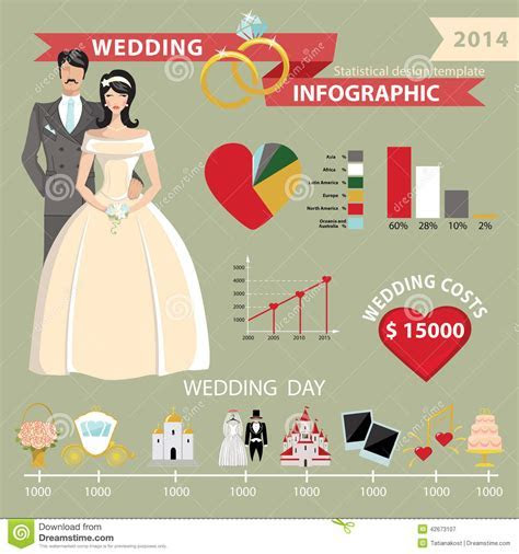 Wedding Infographic Set With World Map.Wedding Day