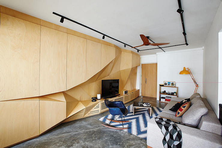 Interior Wall Design With Wood