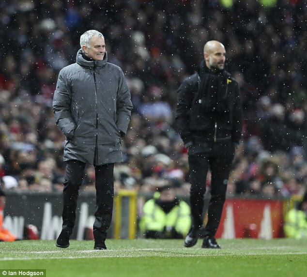 Jose Mourinho went into the game with no intention of matching Pep Guardiola's tactics