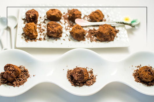 Rum-Infused Chestnut Bonbons with Dark Chocolate-Crystallized Ginger Dust - FOODalogue