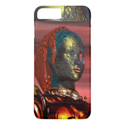 ARES /CYBORG PORTRAIT IN SUNSET Science Fiction iPhone 7 Plus Case