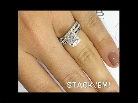 1 carat Radiant Cut Diamond Halo Engagement Ring   YouTube