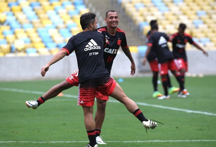 Treino Flamengo no Maracanã (Foto: Gilvan de Souza/Flamengo)