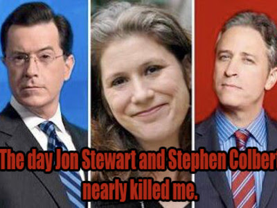 The day Jon Stewart and Stephen Colbert nearly killed me.