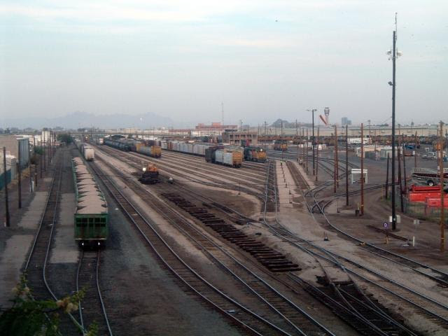 Union Pacific train yard in Phoenix