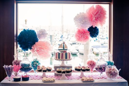 Pink and Blue Nautical Baby Shower