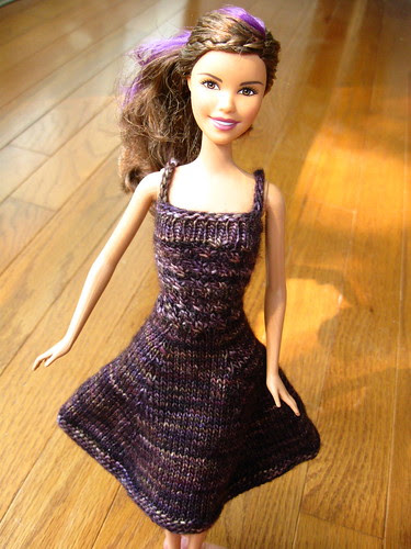 knitted Barbie dress
