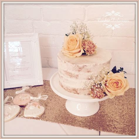 Rustic semi naked single tier wedding cake   Sweets