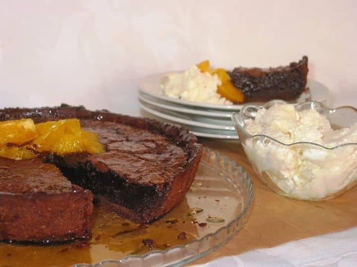 Tarte de Mousse de Chocolate com Mascarpone