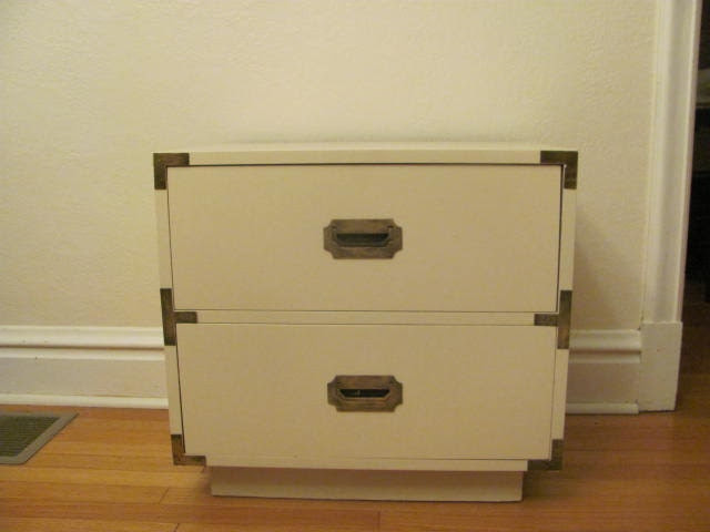 Campaign Nightstand white campaign furniture for sale