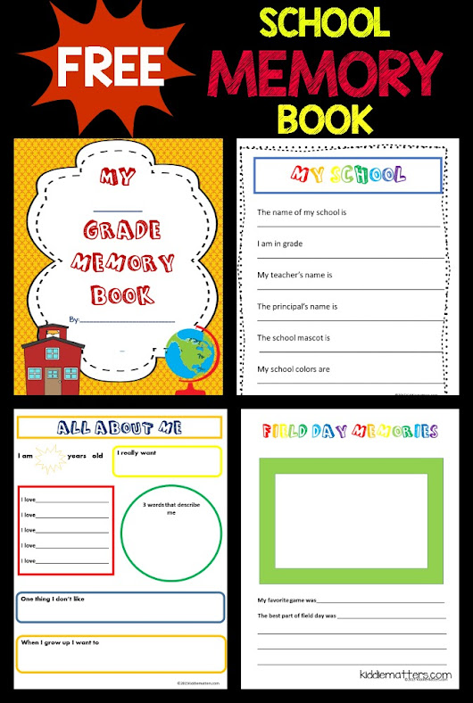 Free School Memory Book Printable - Kiddie Matters