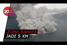 Status Gn Anak Krakatau Naik Jadi Siaga, Zona Bahaya Diperluas