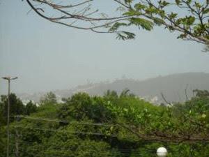 Nuvem de cinza vulcânica encobre cidade de Florianópolis nesta terça-feira  (Foto: Divulgação/Kellen Kruscinski/Epagri-Ciram)