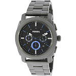 Fossil Men's Machine FS4931 Grey Stainless-Steel Plated Japanese Quartz Fashion Watch