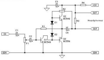 Class-AB Headphone Amplifier Circuit « Audio Circuit