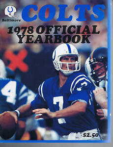 1978 Baltimore Indianapolis Colts NFL Football YEARBOOK eBay