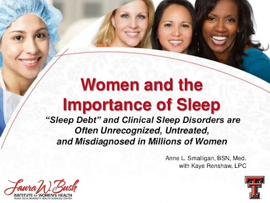 Women and the Importance of Sleep