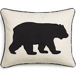 Eddie Bauer Bear Felt 3 Colors Decorative Pillows Black