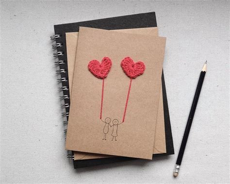 Handmade anniversary card, I love you card, handmade