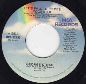 george strait lets fall  pieces  discogs