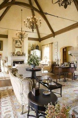 Francês Estilo Country ...  amo o teto de treliça de ferro pressa de Tensão ...