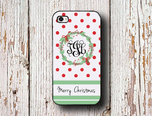 Christmas Iphone 6 case Xmas Iphone 4s case by PreppyCentral