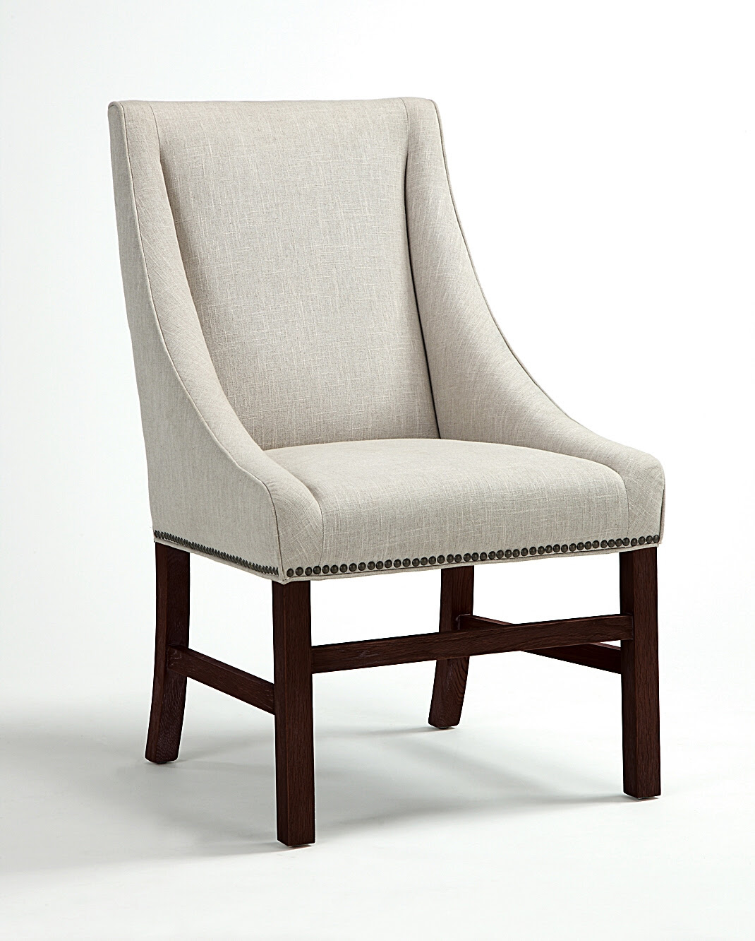 White Upholstered Dining Chair Displaying Infinite ...