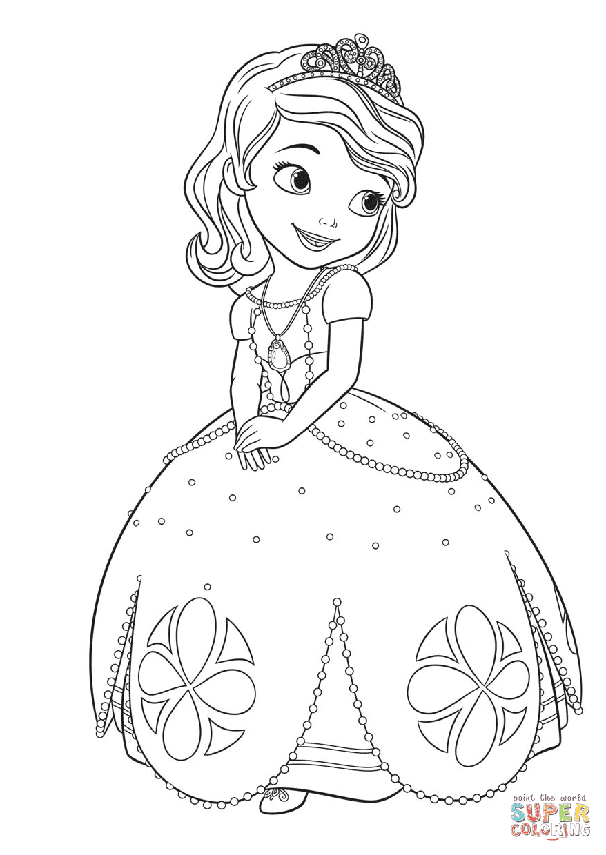 er sur la Princesse Sofia coloriages pour visualiser la version imprimable ou colorier en ligne patible avec les tablettes iPad et Android