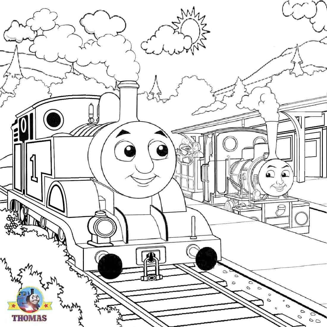 Thomas The Train And Friends Coloring Pages At Getcoloringscom