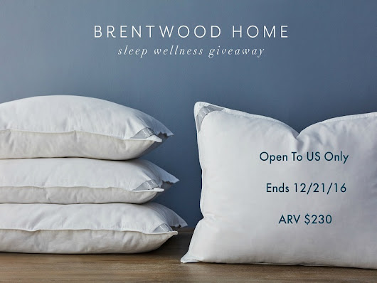 Sweet Dreams with Brentwood Home Pillows ~ Review and Giveaway | Imperfect Women