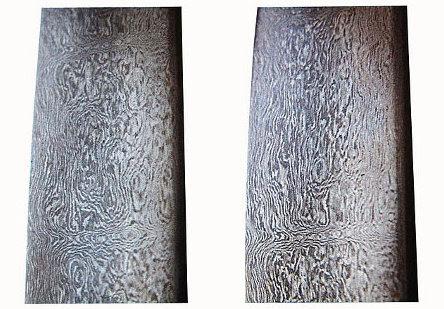 http://en.wikipedia.org/wiki/File:Watered_pattern_on_sword_blade1.Iran.JPG