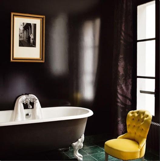 High-gloss bathroom paint ideas