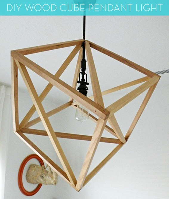 How To: Make a DIY Wood Cube Pendant Light! » Curbly | DIY Design ...