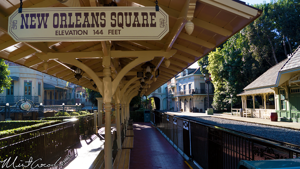 Disneyland Resort, Disneyland, New Orleans Square, Frontierland, Railroad, Station, Train
