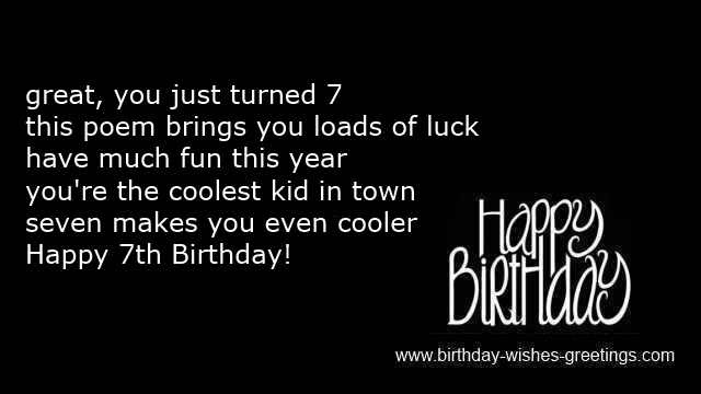 7th Birthday Greetings Boy And 7 Year Old Bday Wishes Girl