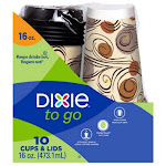 Dixie PerfecTouch Grab'N Go Cups & Lids - 10 count